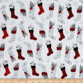 Holiday Homecoming Stocking Allover White/Multi