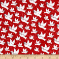 Holiday Homecoming Doves Red