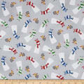 Santa's Little Helpers Snowmen Grey