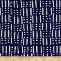 Twilight Dots And Sticks Indigo Blue