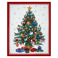 "O' Christmas Tree Metallic 35"" Panel Multi"