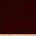 Alexander Henry Plie Dot Black/Red Bean