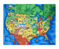"Map of the United States 35.5"" Panel Multi"