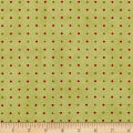 Moda Snowfall Prints Dots Garland Green