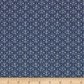 Moda Nordic Stitches Rose Arc Marine
