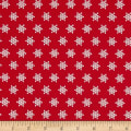 Moda Sugar Plum Christmas Snow Flakes Candy Red
