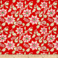 Dena Designs Winterland Poinsettia Red