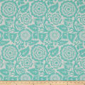 Joel Dewberry Modernist Blockprint Blossom Aqua
