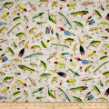 So Many Fish, So Little Time Fishing Lures Cream