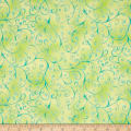 QT Fabrics Ariel Scroll Light Green