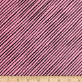 Loralie Designs Dog Gone Stripe Bias Pink/Black