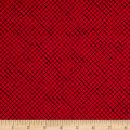 Loralie Designs Lady In Red Trellis Red/Black