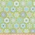 Contempo Nordic Holiday Geo Snowflake Light Green