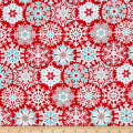Contempo Nordic Holiday Geo Snowflake Red