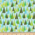 Contempo Mulberry Lane Trees Light Turquoise