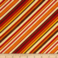 Colors of Fall Diagonal Stripe Red/Orange