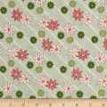 Greetings Dotted Striped Floral Cream/Green