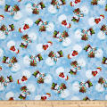 Snowy Friends Tossed Snowmen Light Blue