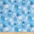 Snowy Friends Snowflake Toss Light Blue