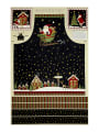 "Santa's Big Night Apron 29"" Panel Multi"