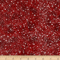 Santa's Big Night Snow Texture Red