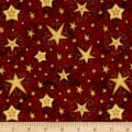 Santa's Big Night Swirl Stars Red