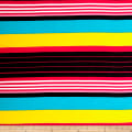 Poly Spandex ITY Knit Stripe Multi