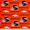 NFL Cotton Broadcloth Denver Broncos Orange