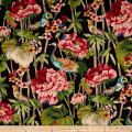 Waverly Peace Garden Sateen Onyx Twill