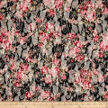 Stretch Floral Lace Pink/Black