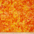 Bali Handpaints Batiks Sunflower Tangerine
