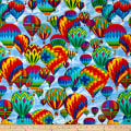 Timeless Treasures Hot Air Balloons Sky