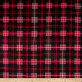 Timeless Treasures Oxford Flannel Tartan Plaid Charcoal