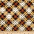 Timeless Treasures Oxford Flannel Bias Tartan Plaid Brown