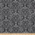 Let it Be Damask Charcoal