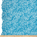 Telio Angelina Embroidery Mesh Lace Turquoise