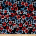Telio Mixi Embroidered Abstract Black/Blue/Coral
