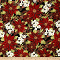 Winter Blossom Metallic Winter Floral Jet/Gold