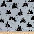 Cotton + Steel Lil' Monsters Trick Or Treat Grey
