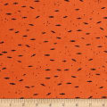 Cotton + Steel Lil' Monsters Fresh Bats Orange