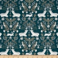Dear Stella Folkwood Animal Damask Emerald