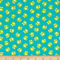 Timeless Treasures Mini's Frogs Turquoise
