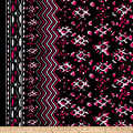 Peachskin Chevron Black/Hot Pink/White