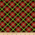Art Loft Holiday Flair Metallic Bias Plaid Red