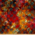 Merrivale Indian Batiks Swirls Orange Multi