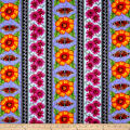 Lennie Honcoop Prairie Gate Floral Stripe Blue