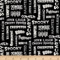 Ready Set Glow In The Dark Halloween Words Black