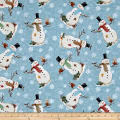 Gina Linn A Time Of Wonder Snowmen Light Blue