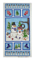 "Western Denim & Dirt Flaky Friends Snowmen 23"" Panel Light Blue"