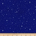 Silent Night Stars & Snow Blue